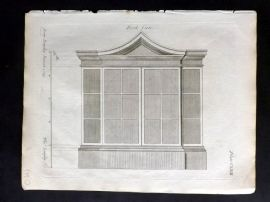 Langley 1777 Antique Architectural Print. Book Case 163.